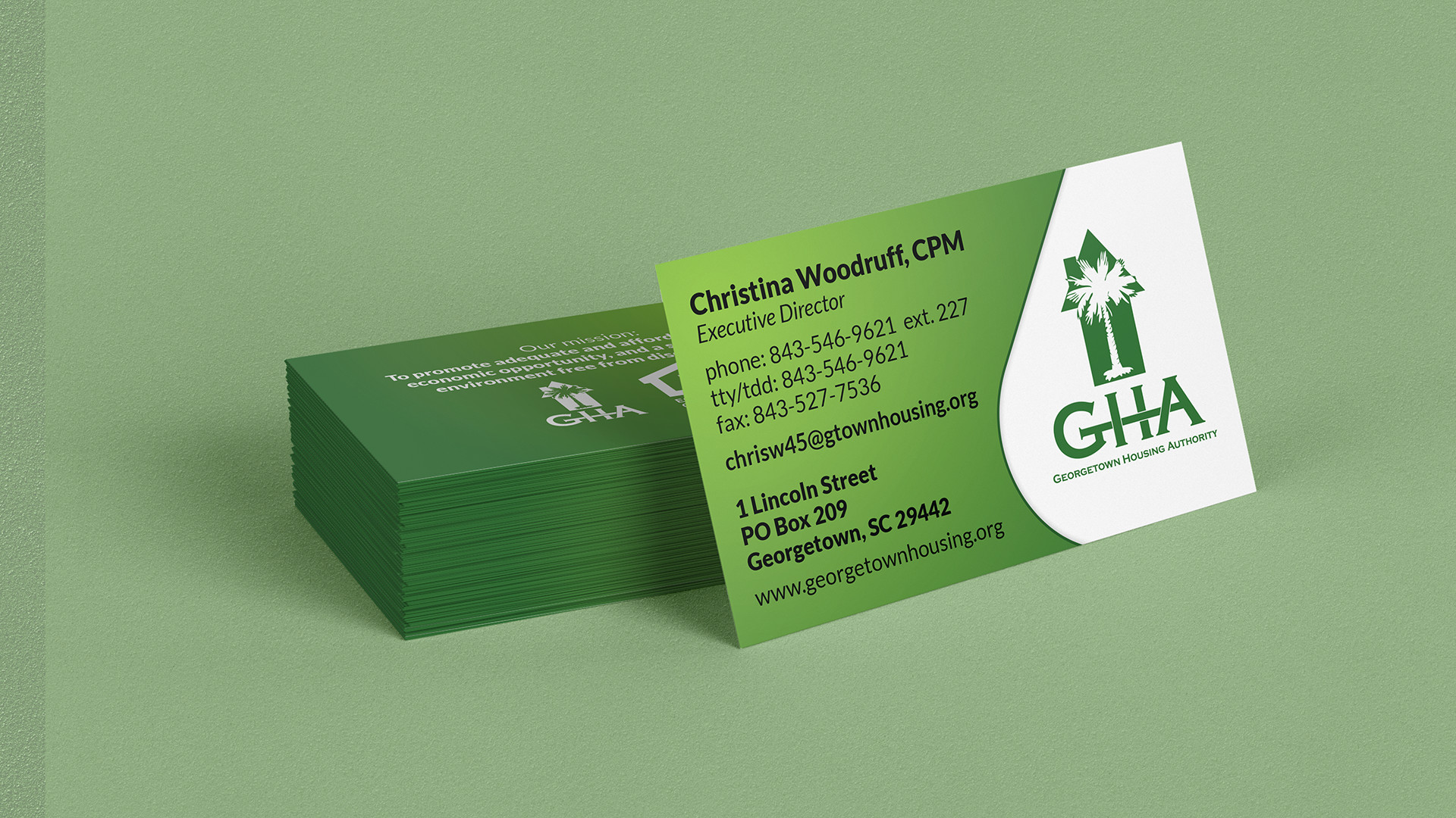 Georgetown housing authority business card design word georgetown housing authority business card reheart Gallery